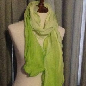 Stunning Shades of Chartreuse scarf